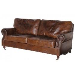 Canapea cu tapiterie din piele Sunburn Vintage