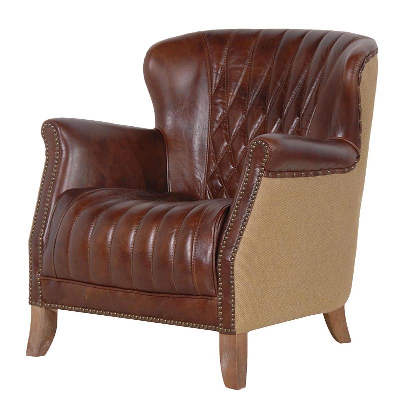 Armchair King Leather  L 720 x W 750 x H 780 mm
