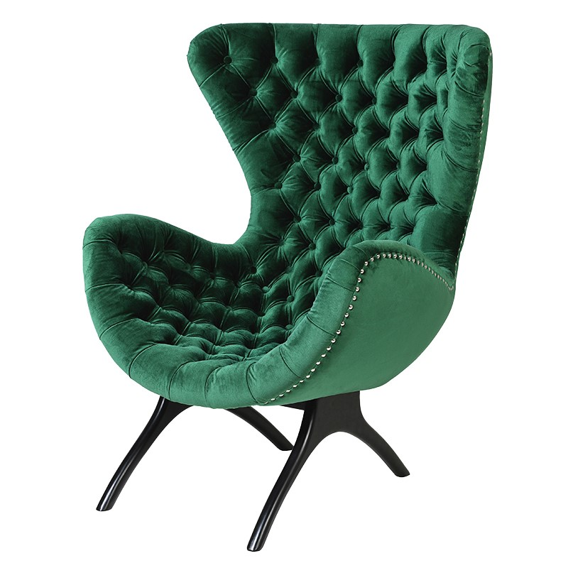 Armchair East green L 830 x W 850 x H 1100 mm