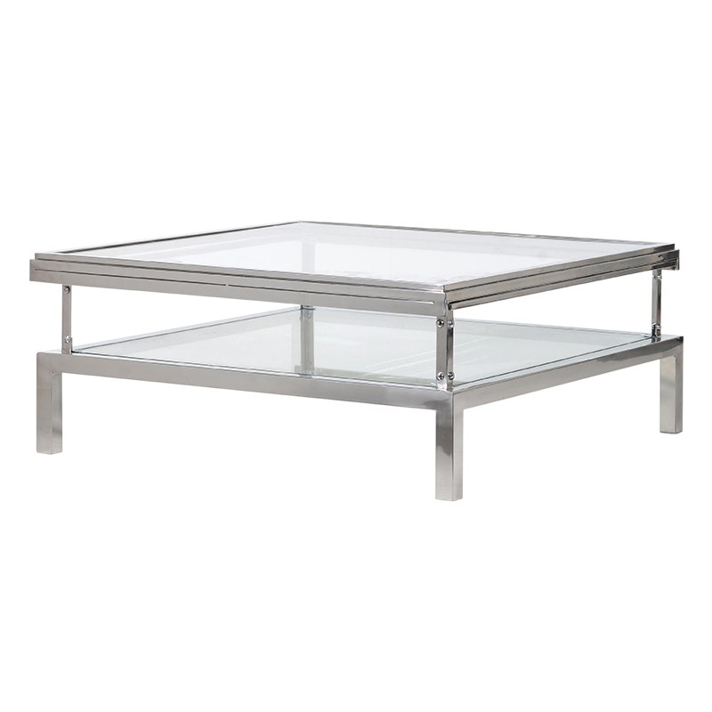 Coffee Table Chester Glass Top L 1000 x W 1000 x H...