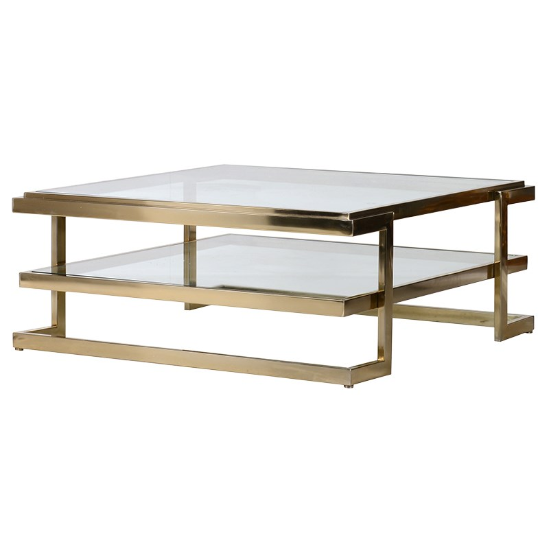 Coffee Table BLISS Gold L 1000 x W 1000 x H 420 mm...