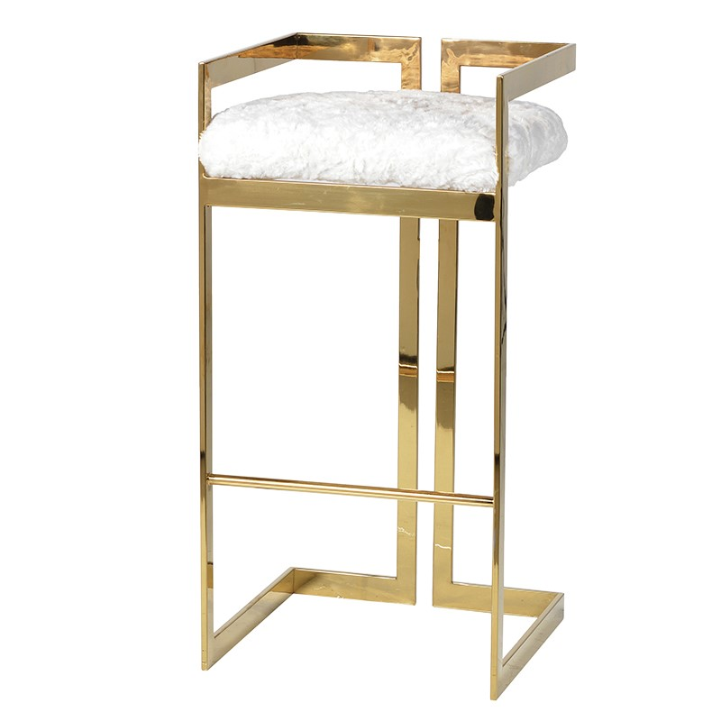 Barstool Fiona Gold Seat H 78 cm