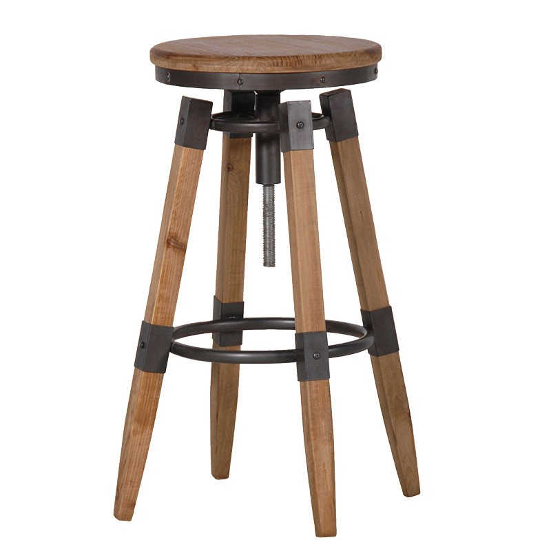 Barstool Woody industrial style L 35 x l 35 x H 69...