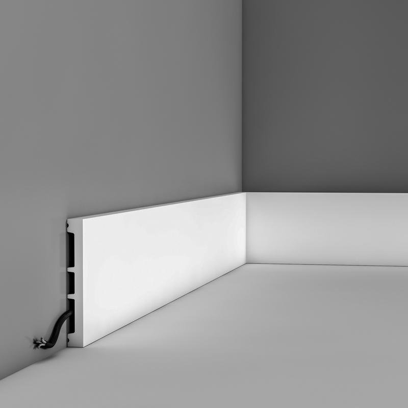 Skirting DX163-2300 H 10.2 x d 1.3 cm