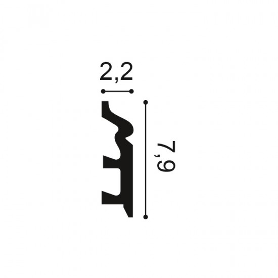 Plinta SX122 H 7.9 x l 2.2 cm