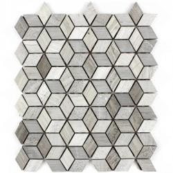 Mozaic din Marmura gri MST033 romb
