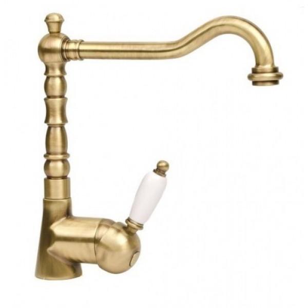 Single lever basin mixer Laguna 40513 bronzed