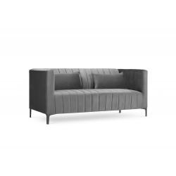 Canapea cu tapiterie din catifea Annite, 2 locuri
