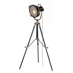 Lampadar Marine negru cu bronz H 180 cm