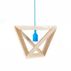 Suspensie moderna Triangle S1 albastru Ø32 cm