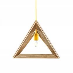 Suspensie moderna Triangle S1 galben Ø32 cm