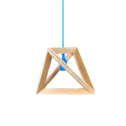Suspensie moderna Triangle S3 albastru Ø41 cm