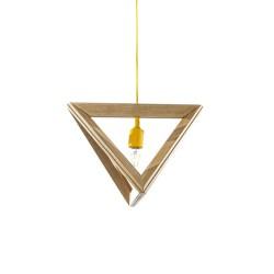 Suspensie moderna Triangle S3 galben Ø41 cm