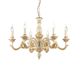Candelabru clasic auriu Giglio SP6 Ø70 cm