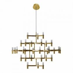Corp de iluminat Atomic Grande auriu 115x82 cm
