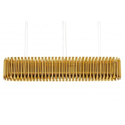 Lustra moderna Galliano Long auriu 172x30 cm