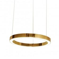 Lustra moderna Ring LED auriu Ø100 cm