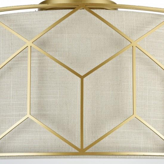Plafoniera clasica Messina auriu Ø 43 cm