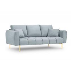 Canapea cu tapiterie din catifea Malvin, 3 locuri