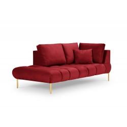 Canapea lounge cu tapiterie din catifea Malvin