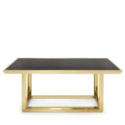 Masa cu cadru auriu Massy 180x90 cm