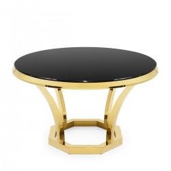 Masa rotunda Pimpi negru si auriu Ø130 cm