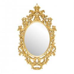 Oglinda de perete ovala cu rama clasica aurie Cameo