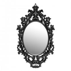Oglinda de perete ovala cu rama clasica neagra Cameo