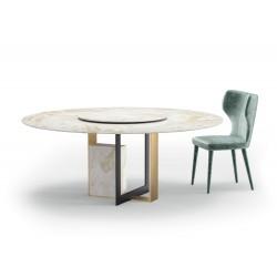 Masa dining cu cadru auriu/negru Moore