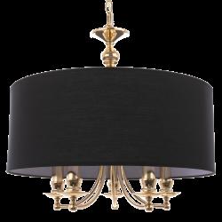 Lustra Abu Dhabi auriu si negru Ø50 cm