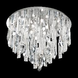 Plafoniera rotunda Calaonda cristal Ø58 cm