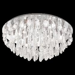 Plafoniera rotunda Calaonda cristal Ø76 cm