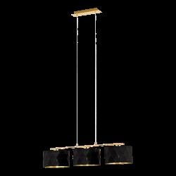Lustra Dolorita negru si auriu 92x25 cm