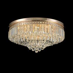 Plafoniera Amelia auriu si cristale Ø80 cm