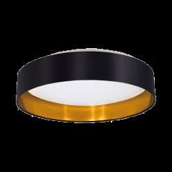 Plafoniera Ivor negru si auriu Ø40 cm