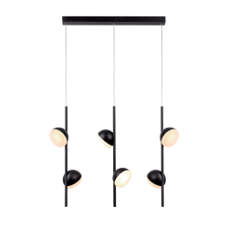 Lustra cu 3 suspensii Olivia negru 73×10 cm