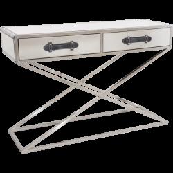 Consola cu 2 sertare si baza argintie Voyage