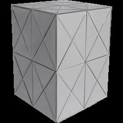 Masuta argintie moderna Soho 40x40 cm