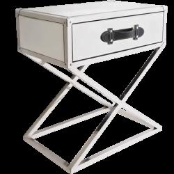 Noptiera cu sertar si baza argintie Voyage 55x35 cm