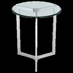 Masuta rotunda argintie Hamptons ø50 cm