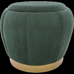 Taburet Velvet verde