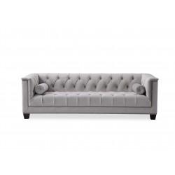 Canapea cu tapiterie din catifea gri Monroe