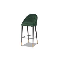 Scaun bar Arden catifea verde emerald