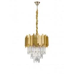 Lustra Grane auriu si cristal Ø40 cm