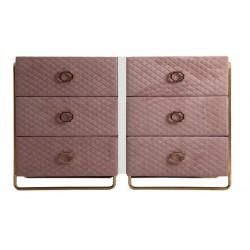 Comoda Elva roz pal si auriu