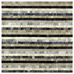 Mozaic marmura bej-gri-negru MST036