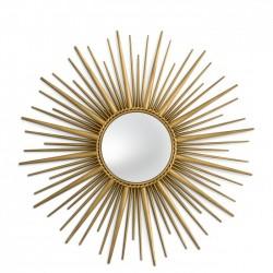 Oglinda de perete cu rama auriu antichizat Helios