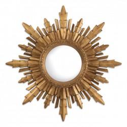 Oglinda de perete cu rama auriu antichizat Bahia