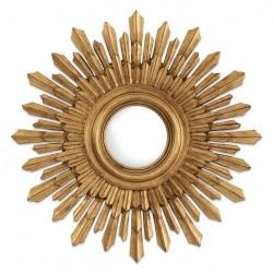 Oglinda de perete cu rama auriu antichizat Sol