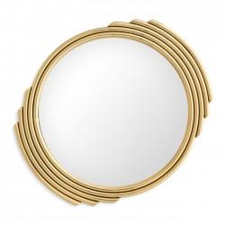 Oglinda rotunda cu rama aurie Cesario